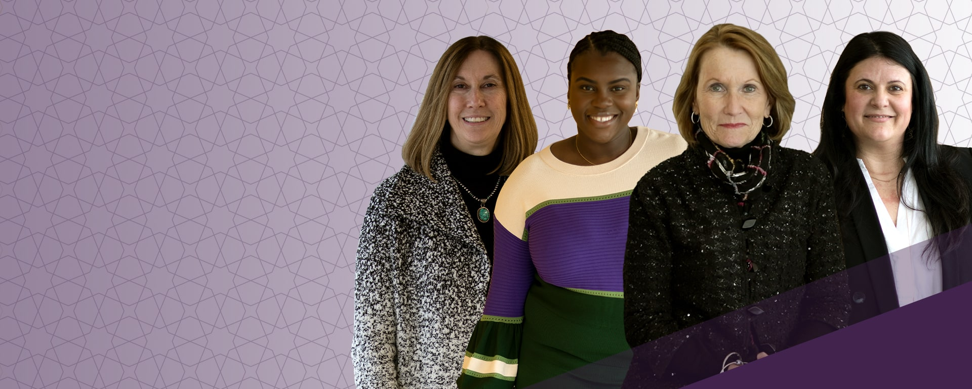 Composite photo featuring: Karen Heinz, Isioma Nwabuzor, Mary Ellen Stanek and Veronica Arias