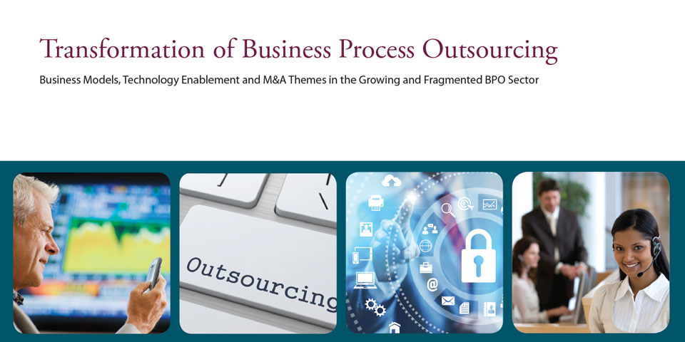 Cover of Transformation of Business Process Outsourcing report