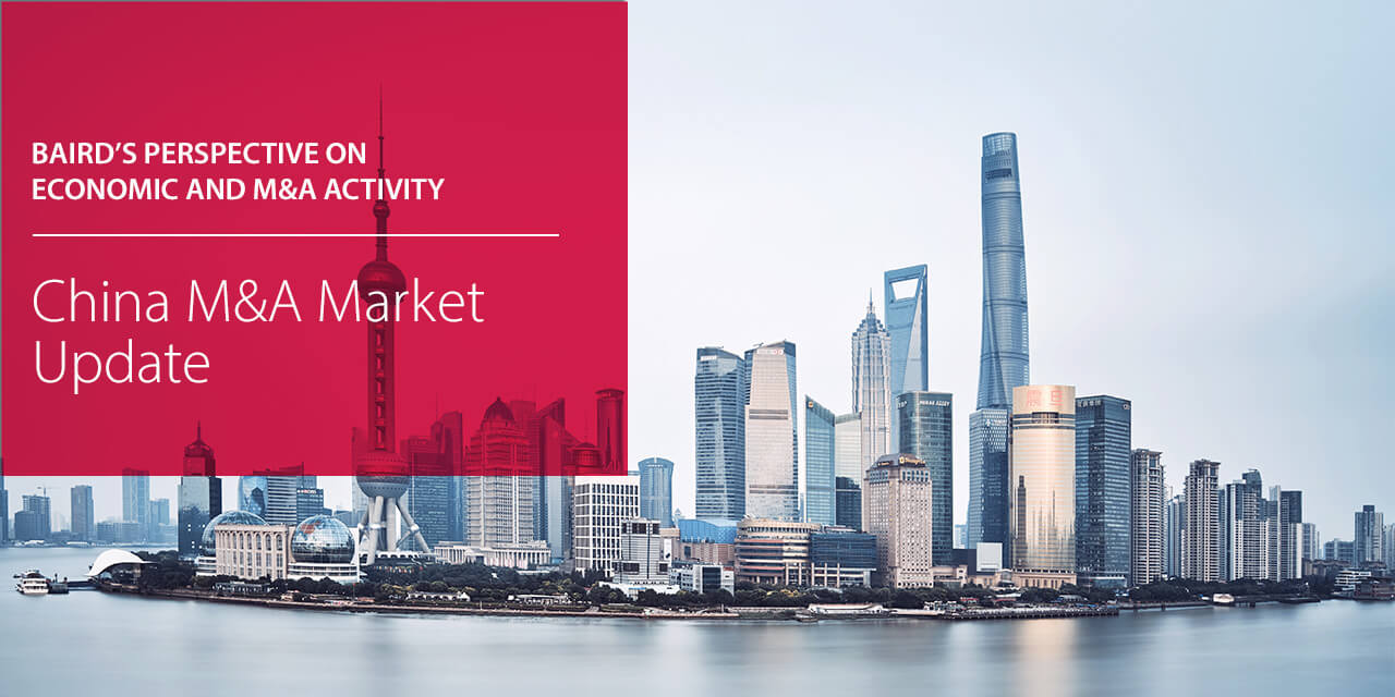 Baird's Perspectives on China's Economic and M&A Activity report cover large horizontal version