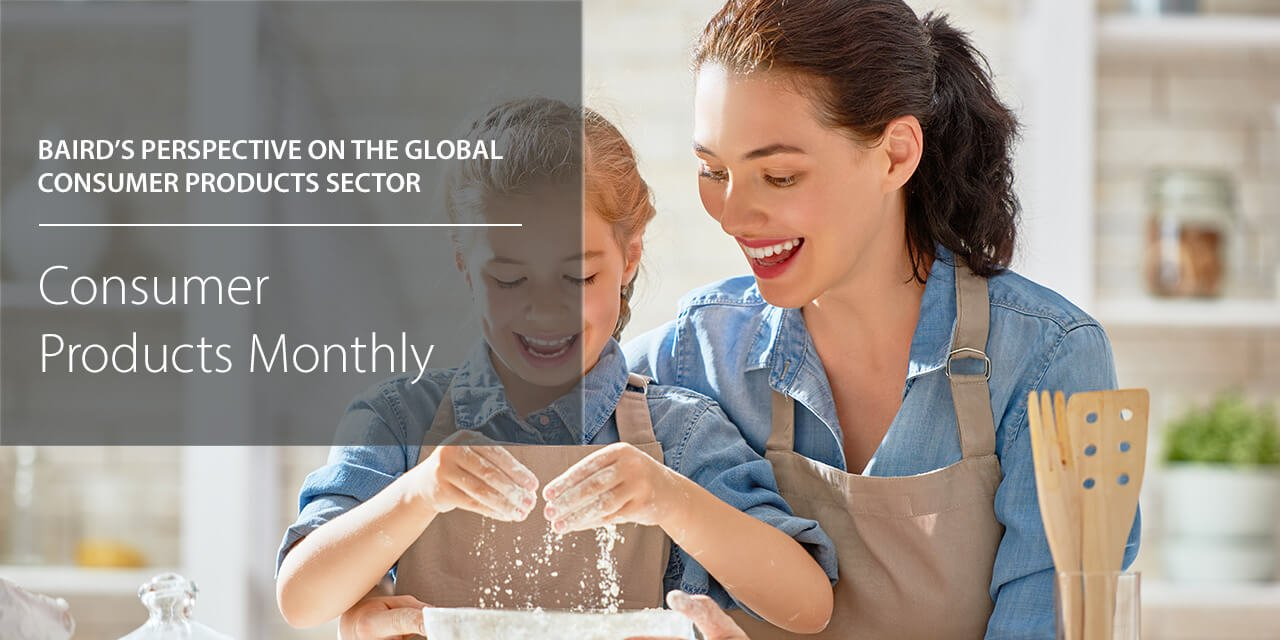 Baird's Perspective on the Global Consumer Products Sector report cover large horizontal version