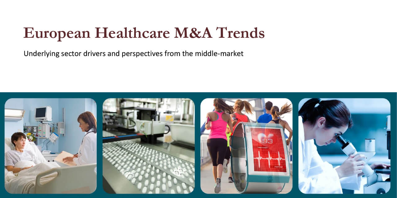 European Healthcare M&A Trends report cover large horizontal version