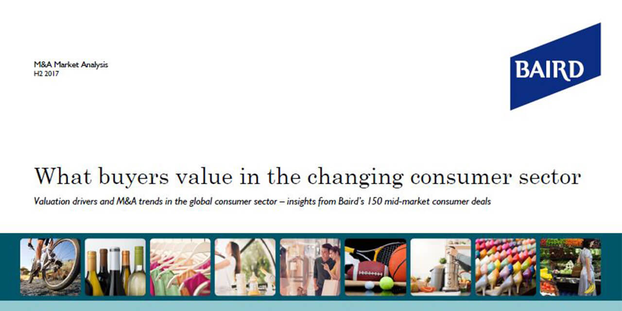 What buyers value in the changing consumer sector report cover large horizontal version