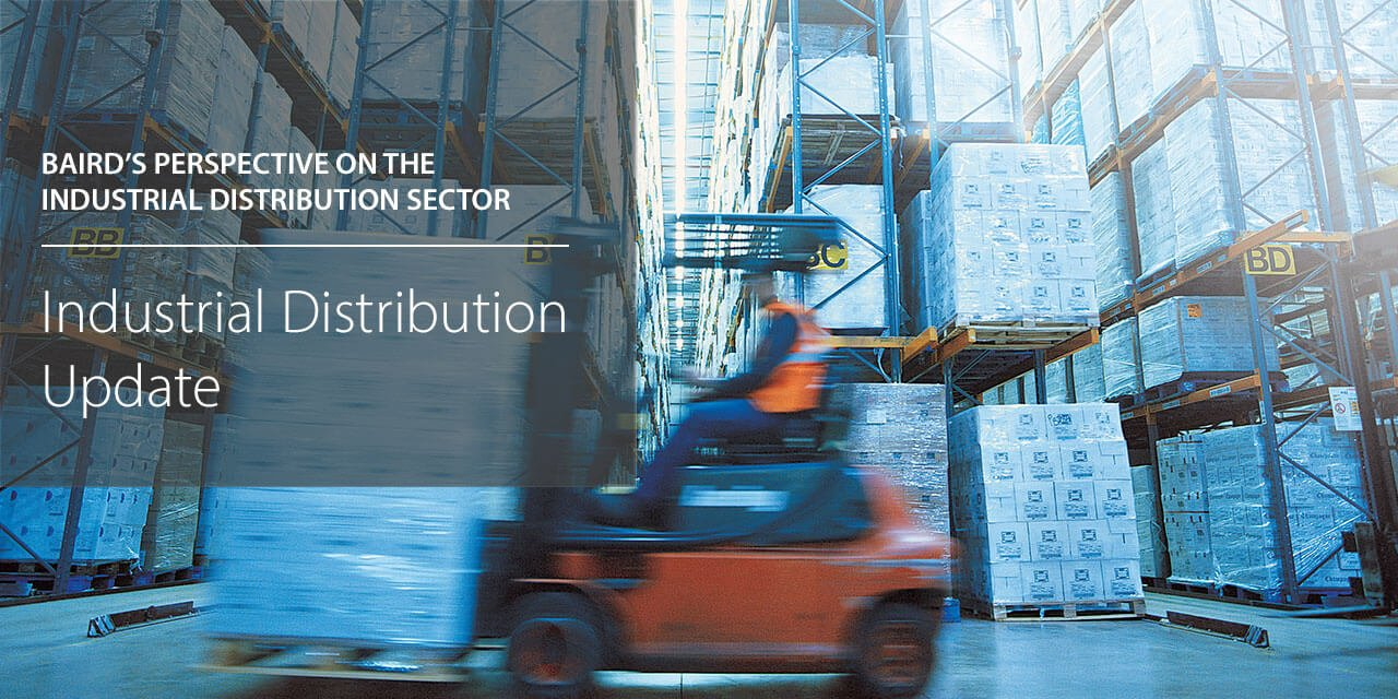 Baird's Perspectives on the Industrial Distribution Sector report cover large horizontal version