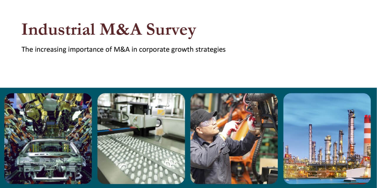 Industrial M&A Survey report cover large horizontal version