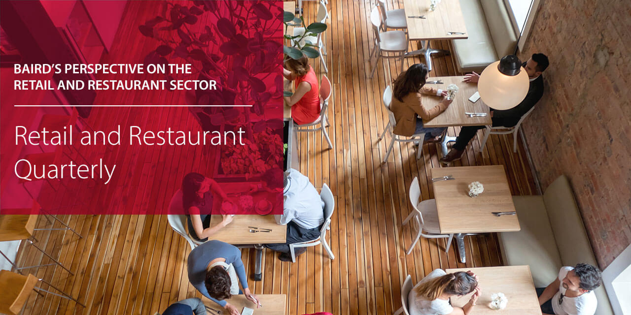Baird's Perspective on the Retail and Restaurant Sector report cover large horizontal version