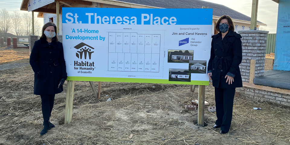 Ground Breaking for St. Theresa Place - Habitat for Humanity.